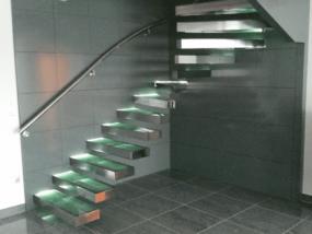 Escalier Inox Verre Semak