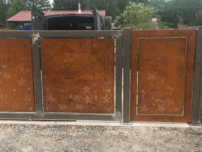 Illustration Portail & clôtures corten