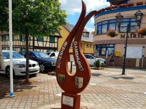 Illustration Sculpture corten